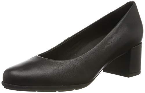 Geox D New ANNYA Mid A, Zapatos con Tacón para Mujer, Negro (Black C9997), 36,5 EU