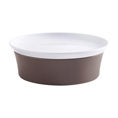 Kahla 32A325A72648C Auflaufform rund in Taupe - braun grau im Set mit Deckel 20 cm Porzellan Backform Ofenform Kuchenform für 2 Personen