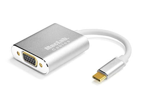 MacLab. USB-C VGA 変換 アダプタ Type-C D-sub 変換 ケーブル 【最新のMacにも対応】 Thunderbolt 3 RGB シルバー(最大解像度:1920×1080)サンダーボルト オス メス ケーブル コネクタ アップル apple MacBook Mac Book Pro iMac Galaxy S9 S8 などと互換性有り BC-UCV2WS