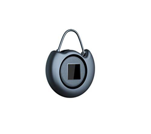 Mini slot Smart Mini hoes voor kast vingerafdrukken slot bagageslot klein wachtwoord draagbaar lang hangslot grijs.