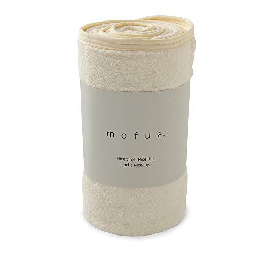 mofua (モフア) 夏用 タオルケット アイボリー シングル 綿100% リバーシブル (表:タオル地/裏:ひんやり接触冷感) メッシュ構造でムレにくい エアーケット 31750108