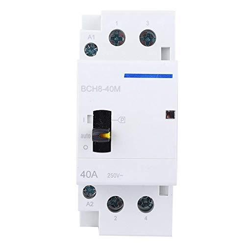 AC-bescherming 230V 40A/18A 30-voudig/1h huishoudelijke ACbescherming voor DIN-railmontage met handmatige bedieningsschakelaar (2NO)