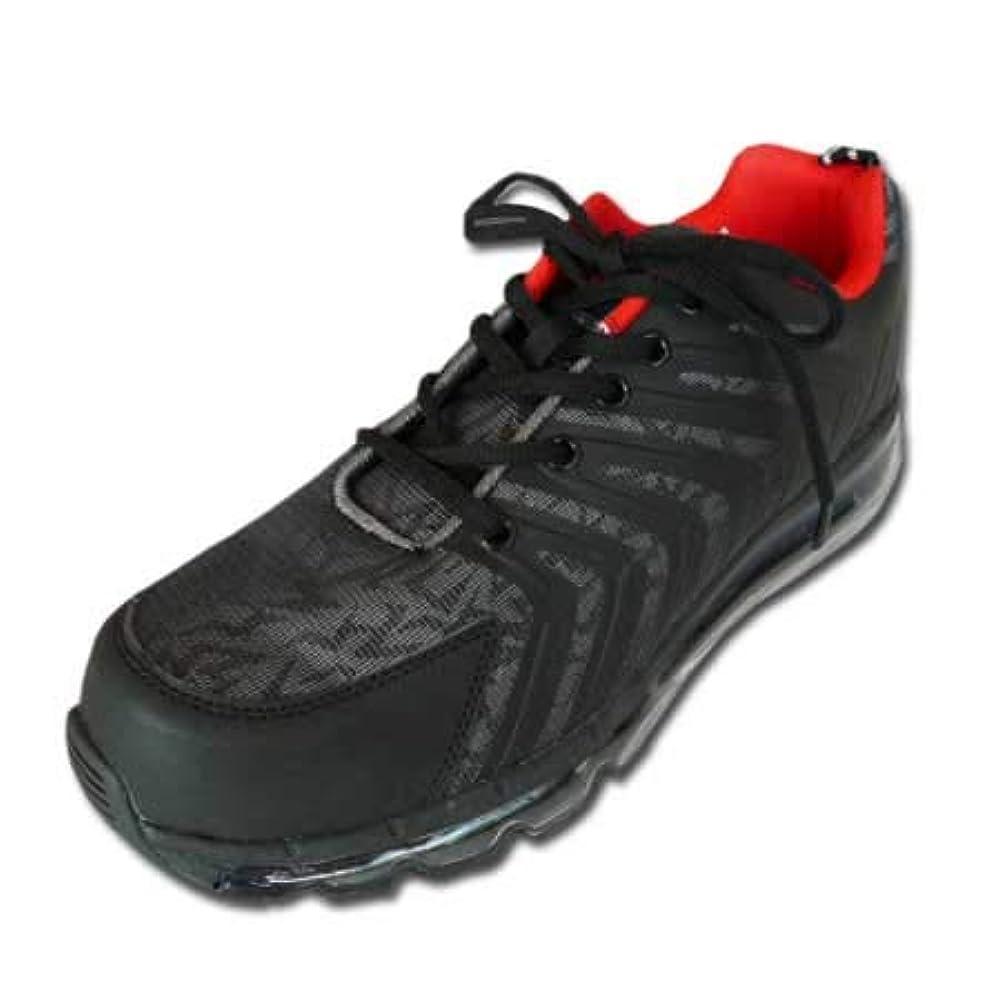 舗装するを必要としています推定[ジーデージャパン] 安全靴 スニーカー ar-110 樹脂製先芯 セーフティシューズ エアークッション ワークシューズ ブラック