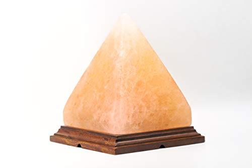 100% Himalayan Pick Salt Big Pyramid Shape Crystal Rock Lamp Natural Healing...