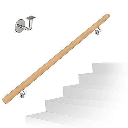 WZNING Pandrail de las escaleras de madera - Escalera de asalto Rieles para ancianos, antideslizante Corredor Stair Barras de apoyo, Home Garden Lofts Decoraciones Barandillas Pine Armés Seguro y firm