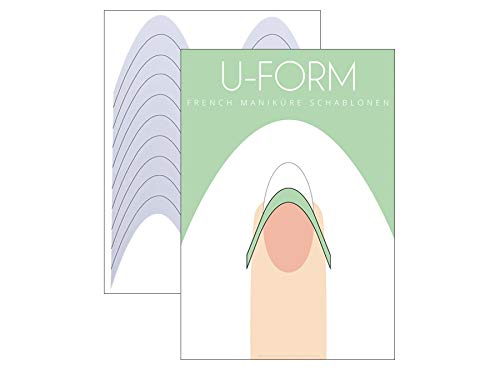French Maniküre Schablone U-Form - French Nail Smile Line - 30er Pack