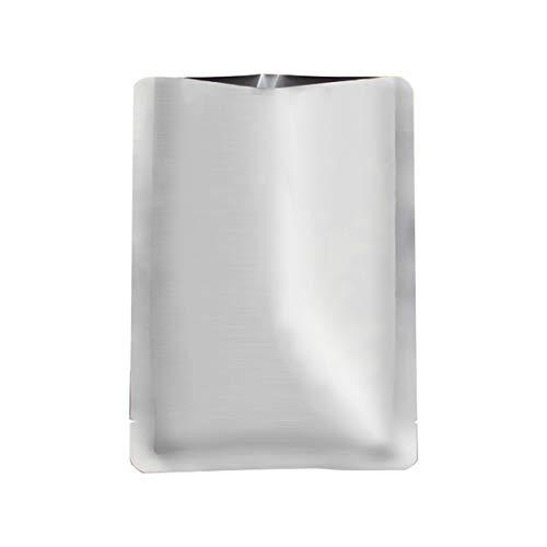 LOKIH 100 Pcs Mylar Sacs Mylar Feuille D'aluminium Sacs pour Longue Durée De Stockage des Aliments De Cuisson À La Vapeur, 3 Tailles,17x25cm