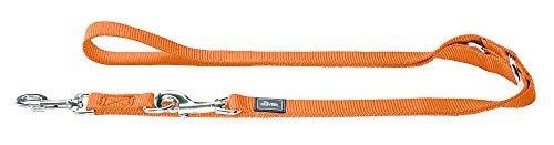 HUNTER Verstellbare Führleine aus weichem, griffigem Nylon, klassisch, 2,0 x 200 cm, orange