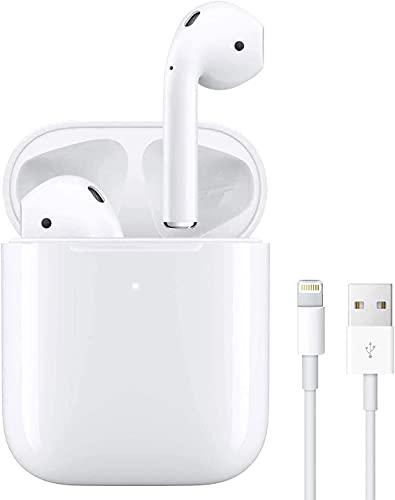 Auricolari Bluetooth,Cuffie Senza Fili 24h Playtime 3D Stereo HD Cuffie Wireless, Binaurale Call Auto Pairing,con Scatola di Ricarica, per Android/iPhone