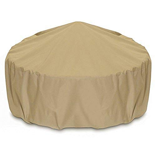 Two Dogs Designs 2D-FP48005 Fire Pit Cover With Level 4 UV Protection, 48-Inch, Khaki