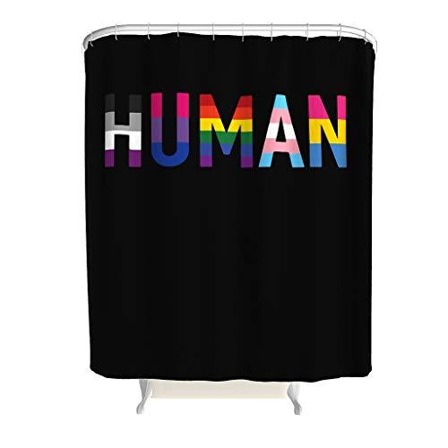 WJunglezhuang menselijk douchegordijn, LGBT + waterdichte stof, topkwaliteit gordijn