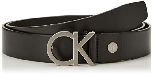Calvin Klein Ck Buckle Cintura, Nero (001), 105 (Taglia Produttore Uomo