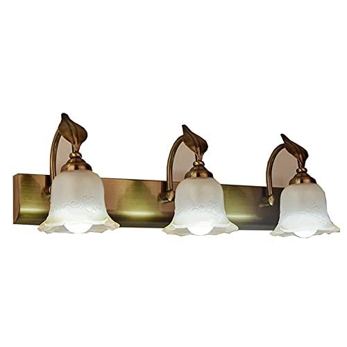 Luz De Espejo Led Faros De Espejo Minimalistas Lámpara De Pared Retro para Dormitorio Baño Tocador Gabinete (Color: Luz Blanca, Tamaño: 20 Pulgadas)