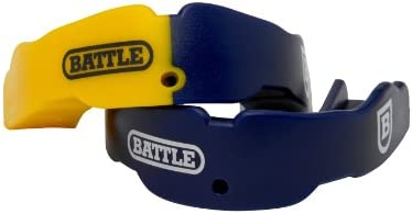 Battle Sports Science 2 Color Adult Mouthguard 2 Pack Navy Yellow product image