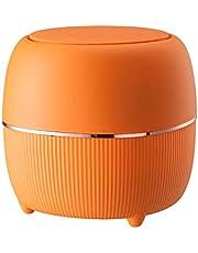 ゴミ箱 小さい 垃圾桶 フタ付き プラスチック ごみ箱 頑丈 耐久性 ミニごみ箱 卓上ゴミ箱 ちいさい かわいい バスルーム ベッドルーム オフィス バウンスカバーデザイン ブルー