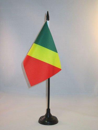 AZ FLAG Drapeau de Table République du Congo 15x10cm - Petit Drapeaux DE Bureau congolais 10 x 15 cm