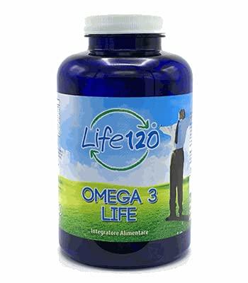 Life 120 - Omega 3 Integratore Alimentare 150 Perle - Omega 3 è un integratore di acidi grassi, EPA e DHA e vitamina E.