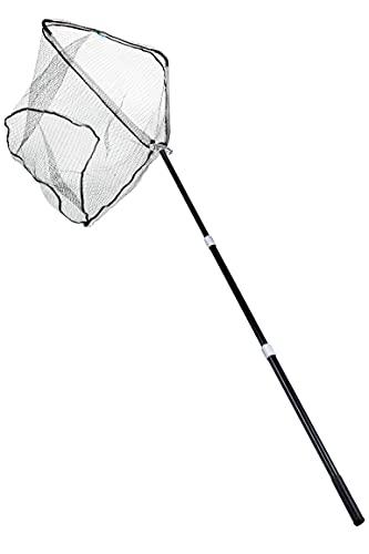 Zite Fishing Angel-Kescher Gummiert Groß - Teleskop Hammerkopf-Kescher 2,5m Angelzubehör - Karpfen Raubfisch Angeln