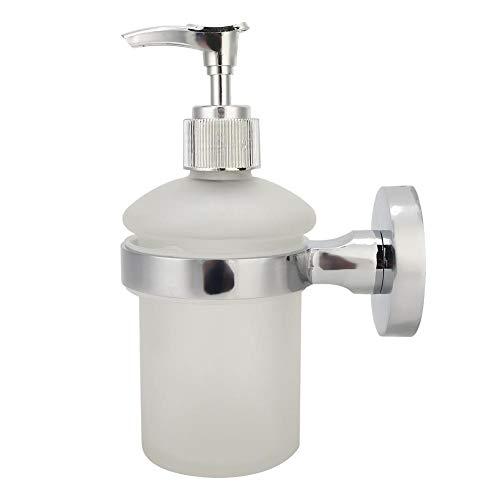 Akozon Dispenser di sapone Bottiglia Pompa a parete Acciaio inossidabile Manuale Mano Lozione liquida Dispenser di sapone Bottiglia per bagno di casa dell'hotel