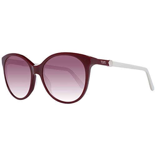 Tod's TODS Damen TO0174-5566T Sonnenbrille, Shiny Red/Gradient Bordeaux, 55/17/135