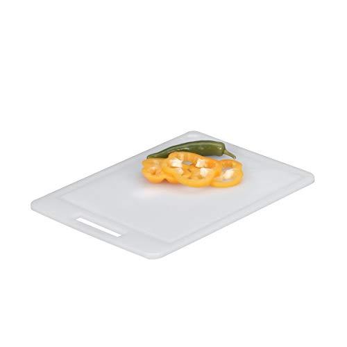 Zeller 26063 - Tagliere in plastica, 34,5 x 24,5 cm, colore: Bianco
