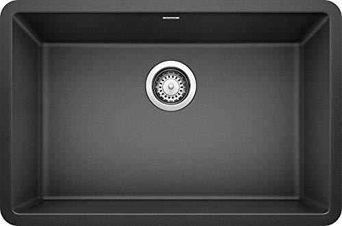 BLANCO, Anthracite 522259 PRECIS SILGRANIT Single Bowl Undermount Kitchen Sink