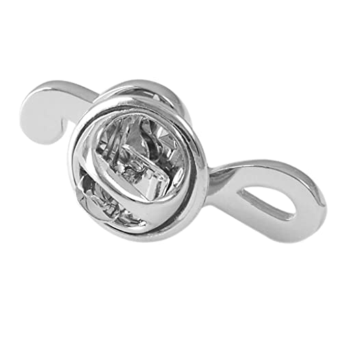 Bonarty Botón de Pin de Cuello de Broche Unisex, Pines de Insignia de Nota Musical - Clip de Traje de Camisa de Chaqueta