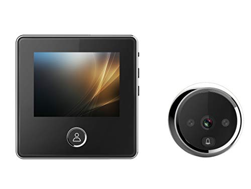 3inches LCD Color Screen Electronic Door Bell Viewer- IR Night Door Peephole Camera, Photo Shooting+Video Recording Digital Door Camera,Black(MWXDD2)