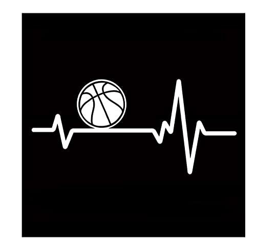 MDGCYDR Pegatinas Coche 8,4 Cm * 8,4 Cm Juego De Pelota De Baloncesto Juego De Vinilo Deportivo Pegatina De Coche Negro/Plateado