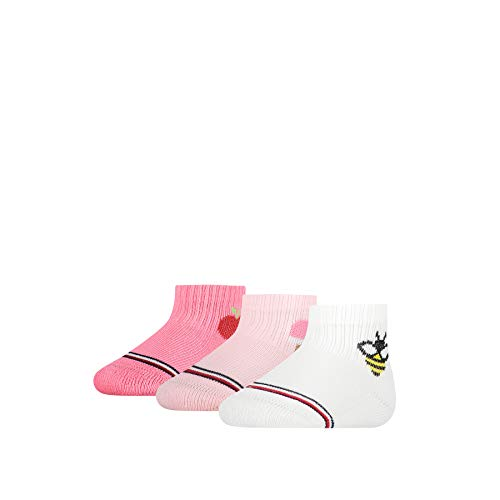 Tommy Hilfiger Baby-Girls Newborn Giftbox (3 Pack) Socks, pink Combo, 11/14