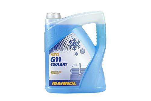 MANNOL Blue Antifreeze Coolant 5l Ready Mixed - 5 Litre