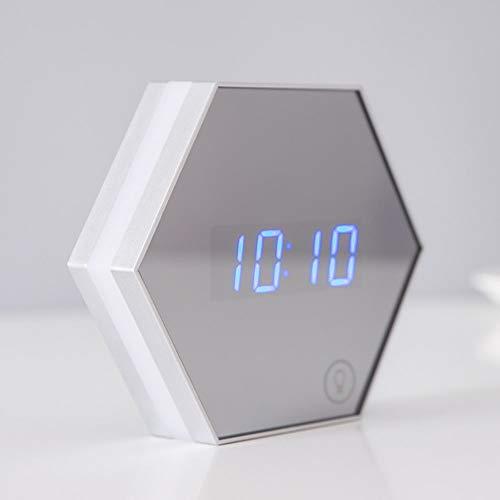 De enige goede kwaliteit Decoratie Slaapkamer Nachtlampje Alarm Klok Licht Smart Home Multi-Functie Spiegel USB Nachtlampje Verjaardagscadeau Thermometer