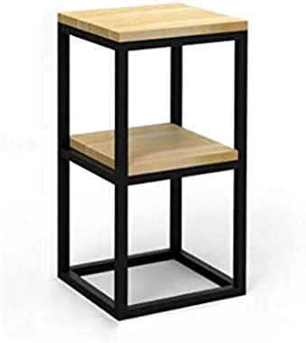 KASHT Kala Wooden & Iron Bedside Tables for Bedroom Telephone Table End Table for Living Room Flower Pot Night Stand Tabl