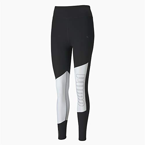 Puma Logo 7/8 Graphic Tight Legging Femme, Black White-Silver Prt, M