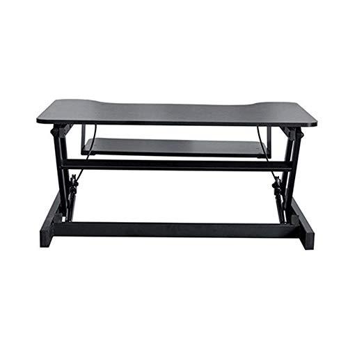 FGDSA Escritorio de pie Stand Up Desk Altura Sit Stand Convertidor de Escritorio con Bandeja de Teclado para el hogar y la Oficina No se Requiere instalación para Todas Las Estaciones de Trabajo y