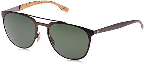 Hugo Boss BOSS0882S-0S319-57 HUGO BOSS Sonnenbrille BOSS0882S-0S319-57 Rechteckig Sonnenbrille 57, Blau