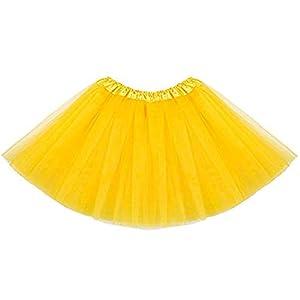 Falda de tul de ballet para niña - Falda - Glitter - 2 capas ...