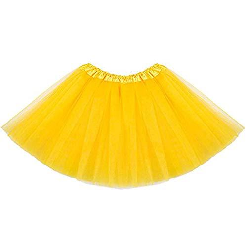 MUNDDY - Tutu Elastico Tul 3 Capas 30 CM de Longitud para niña Bebe Distintas Colores Falda...