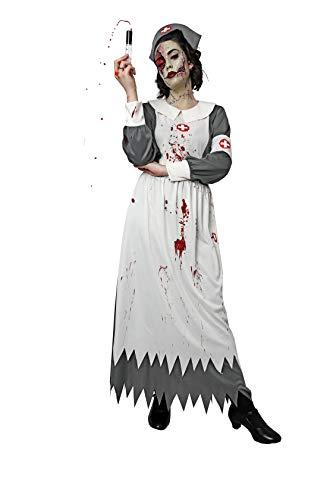 Costumizate! Disfraz de Enfermera Zombie para Mujer Adulta Talla Unica Halloween