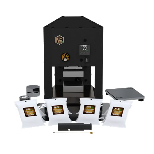 NugSmasher X Master Bundle Includes: Twelve 12 Packs of All Micron X Bags, Silicone Mat, Collection Plate, Magnet, Decarboxylation Capsule, Nugpacker, Everything Tool, Rosin Shield and Rosin Pot.