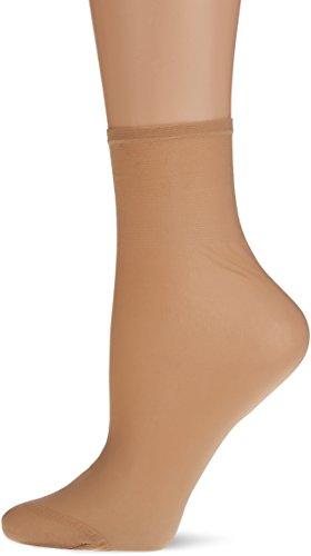 Dim Sublim Tobilleros 15D Calcetines, Beige (Capri 797), One Size (Tamaño del Fabricante:35/41) (Pack de 2) para Mujer