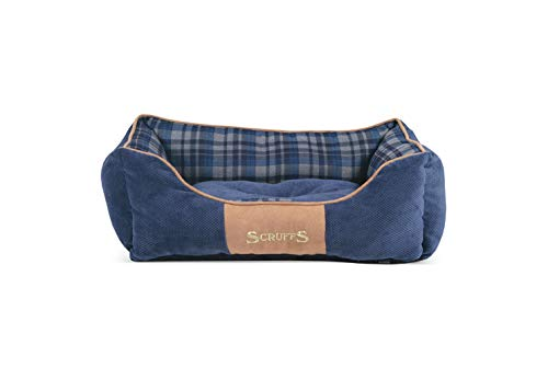 Scruffs Dog Highland Box Bed, Medium, Blue