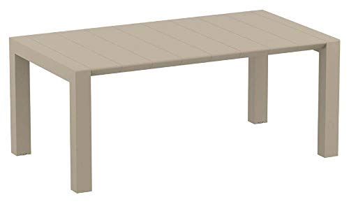 Compamia Vegas Extendable Dining Table in Dove Gray