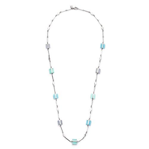 JEWELS BY LEONARDO Damen-Ketten Ponte Edelstahl Cateye Glas vert blau grau turquoise silber 90 cm Karabiner 016498