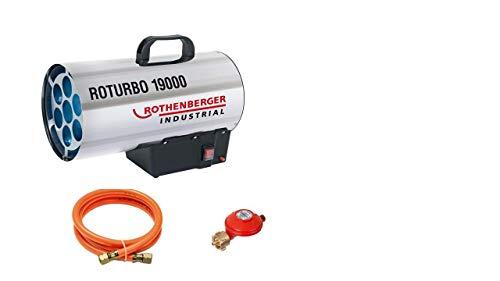Rothenberger Industrial 1500000051 RoTurbo - Soplador con encendido piezoeléctrico, manguera y regulador, 18,2 kW, peso 5 kg