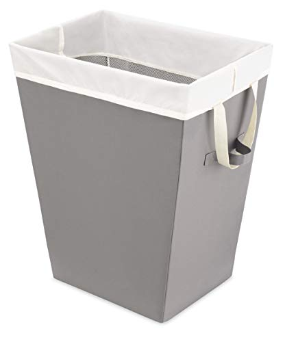 Whitmor Easycare Hamper & Laundry Bag-Greystone