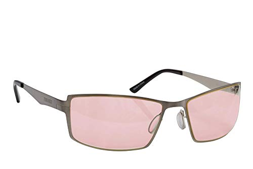 Migraine Glasses for Migraine Relief and Light Sensitivity Relief Terramed Sparrow Unisex Women or Men | Fl-41 Migraine Glasses for Computers Indoor Reading Photophobia Eye Strain (Mercury)