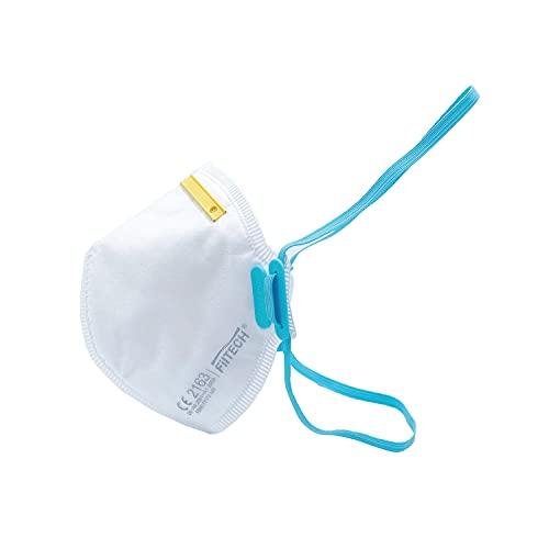 Filtech FFP3 Maske F890 10 Einheiten Atemschutzmaske EU CE 2163 Zertifiziert EN149:2001+A1:2009 Mundschutz 6 lagig mit innen liegendem Vlies Höchste Filterklasse 99% Filter-ohne Ventil