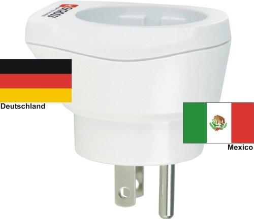 hochwertiger Design Reiseadapter Deutschland auf Mexico 220-230V Schukostecker Umwandlungsstecker Reisestecker Netzstecker - Germany - Mexico