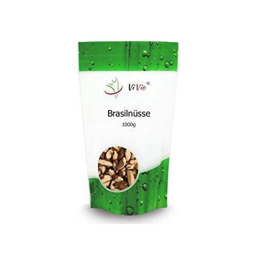 Paranüsse 1 kg Vivio - Brasilnüsse - Vegan - Brazil nuts - Paranusskerne 1kg / Nüsse ohne Bruch - Rohkost-Qualität - Unbehandelt - Naturbelassen -Reich an Selen - Ohne Aflatoxin - 1 kg Großpackung